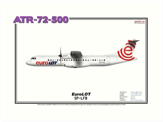ATR 72-500 - EuroLOT (Art Print) by TheArtofFlying