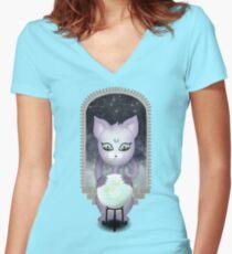 Mystic Miku   Crystal Ball & Zodiac   Teal Fitted V-Neck T-Shirt