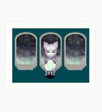 Mystic Miku | Crystal Ball & Zodiac | Teal Art Print