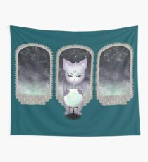 Mystic Miku | Crystal Ball & Zodiac | Teal Wall Tapestry