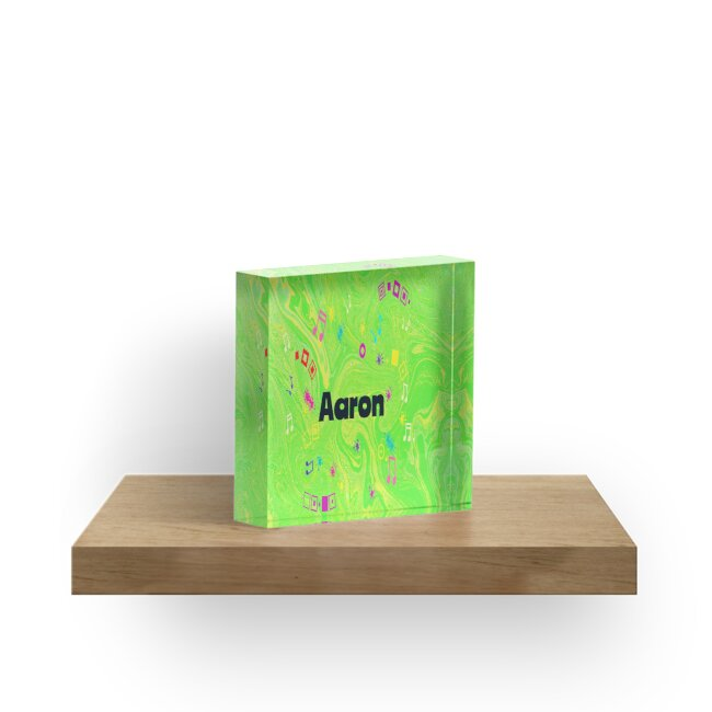 Aaron - original artwork  in green to personalize your gift by myfavourite8
