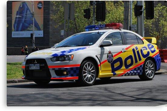 Victoria Police Mitsubishi EVO by Hicksy