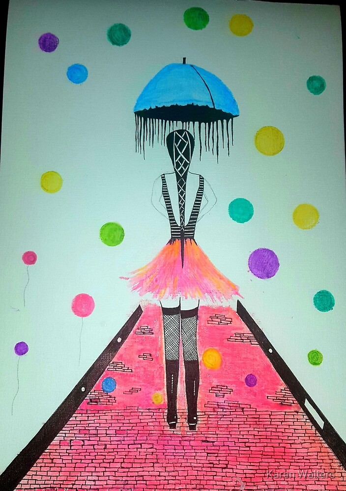 Raining bubbles by Karen Walters