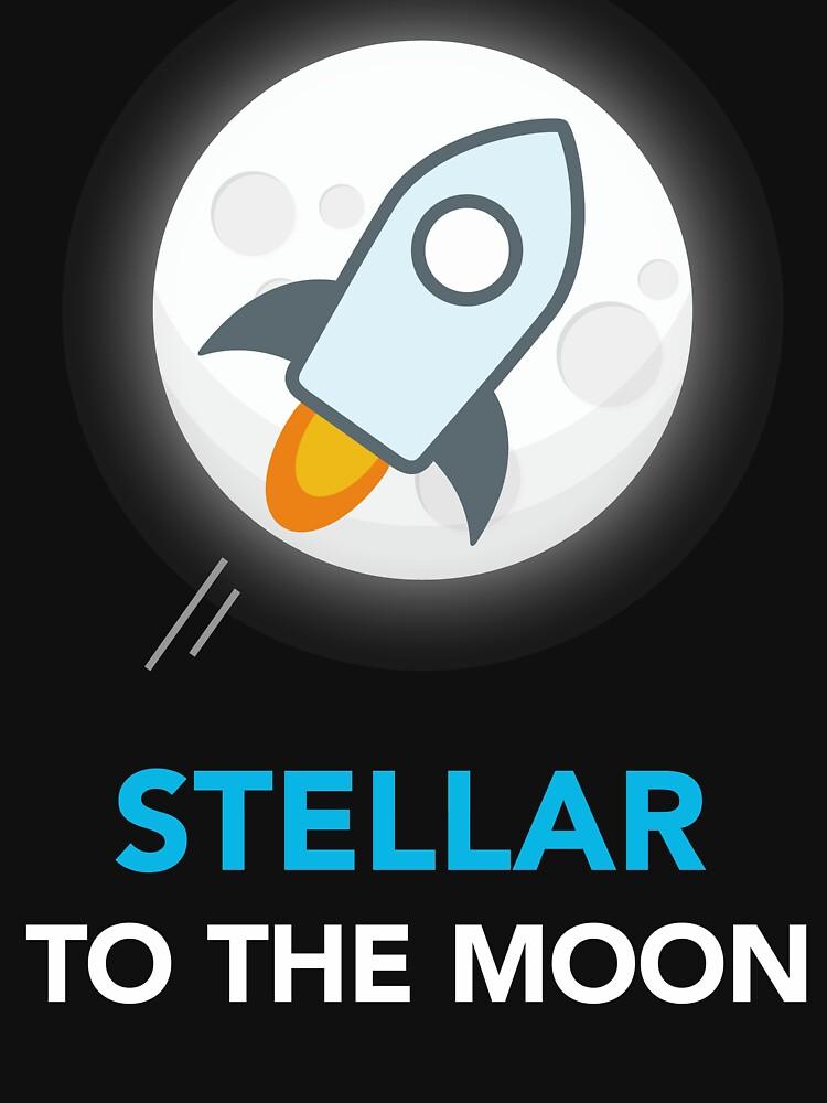 Stellar Lumens to the Moon - Stellar Lumens Crypto Coin by vladocar