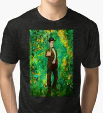 11th Doctor Abstract Tri-blend T-Shirt