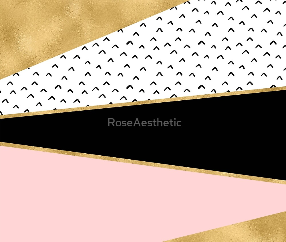 Grand geometric rose golden tones by RoseAesthetic