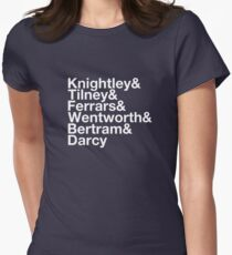 Men of Jane Austen Helvetica Womens Fitted T-Shirt