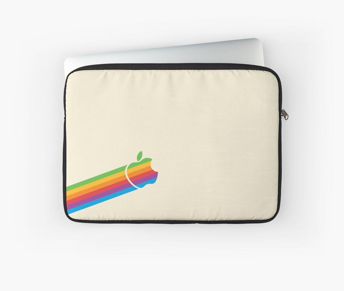Apple Rainbow Logo by manzinello