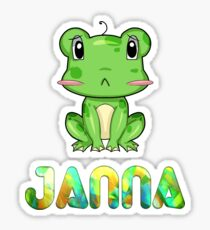 Janna Frog Sticker