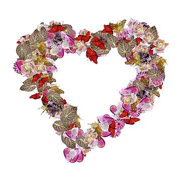 Heart Butterflies by Crtive