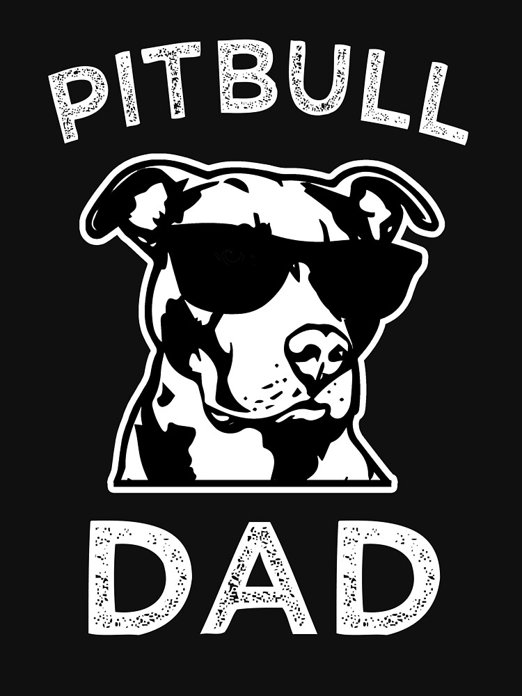 Proud Pitbull Dad men's Pit Bull T-shirt by worksaheart