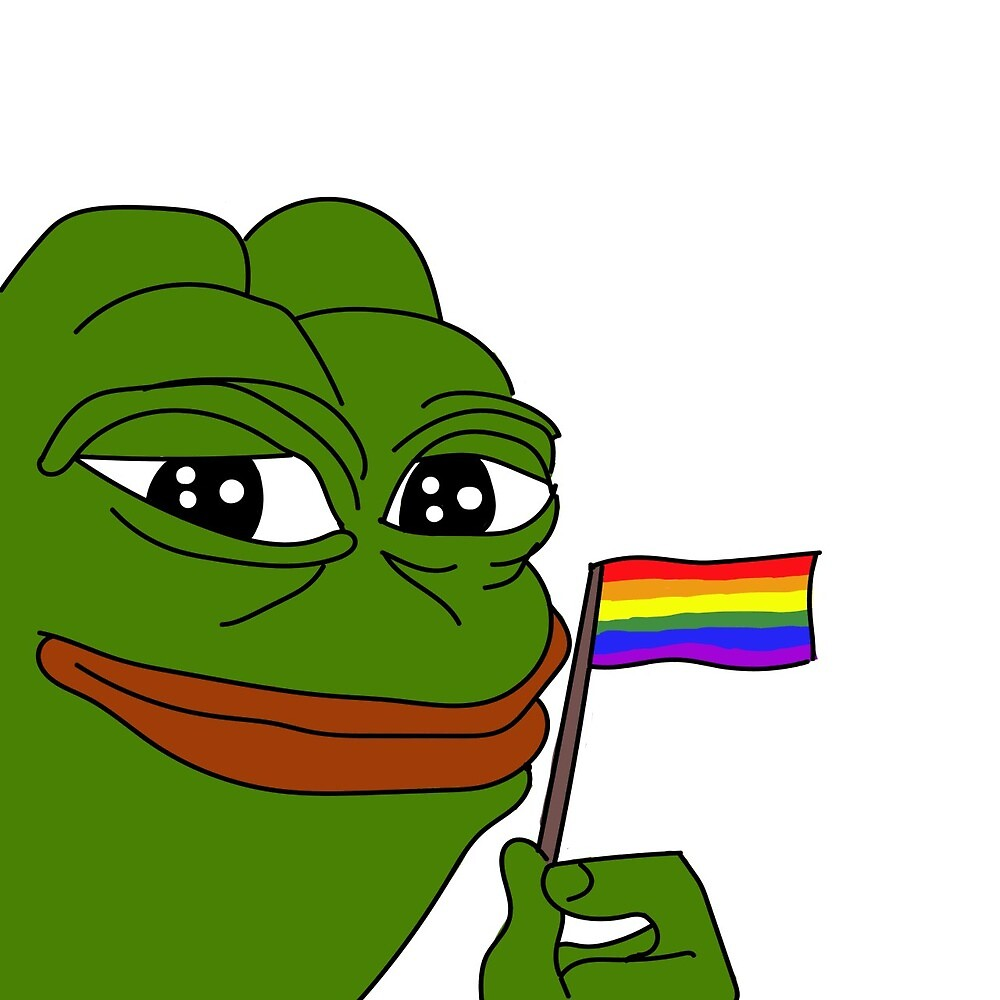 pepe the frog lgtbtq flag by bartdoolittle
