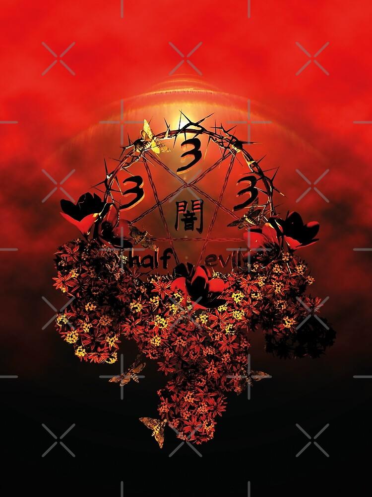 summoning circle pentagram - 333 half evil by cglightNing