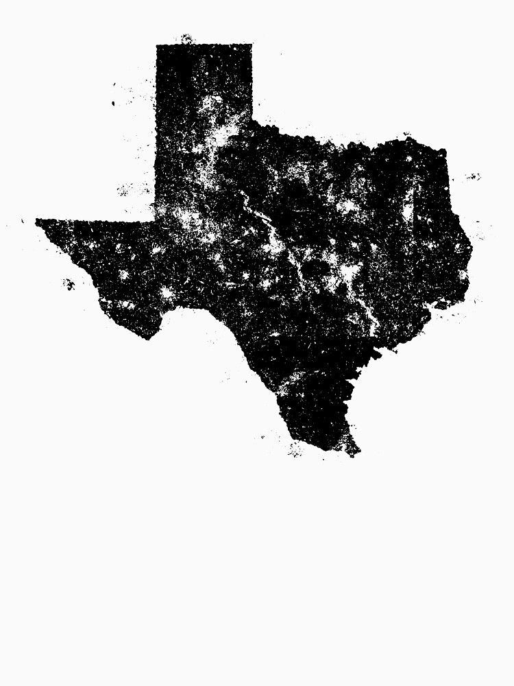 Vintage Texas Map Silhouette by Chocodole