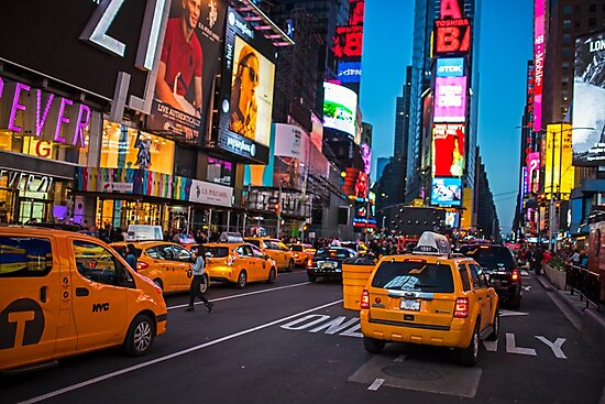 Times Square New York Taxi Cabs NY by WayneOxfordPh