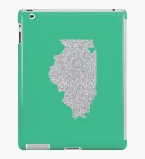 Chicago, IL Glitter State iPad Case/Skin