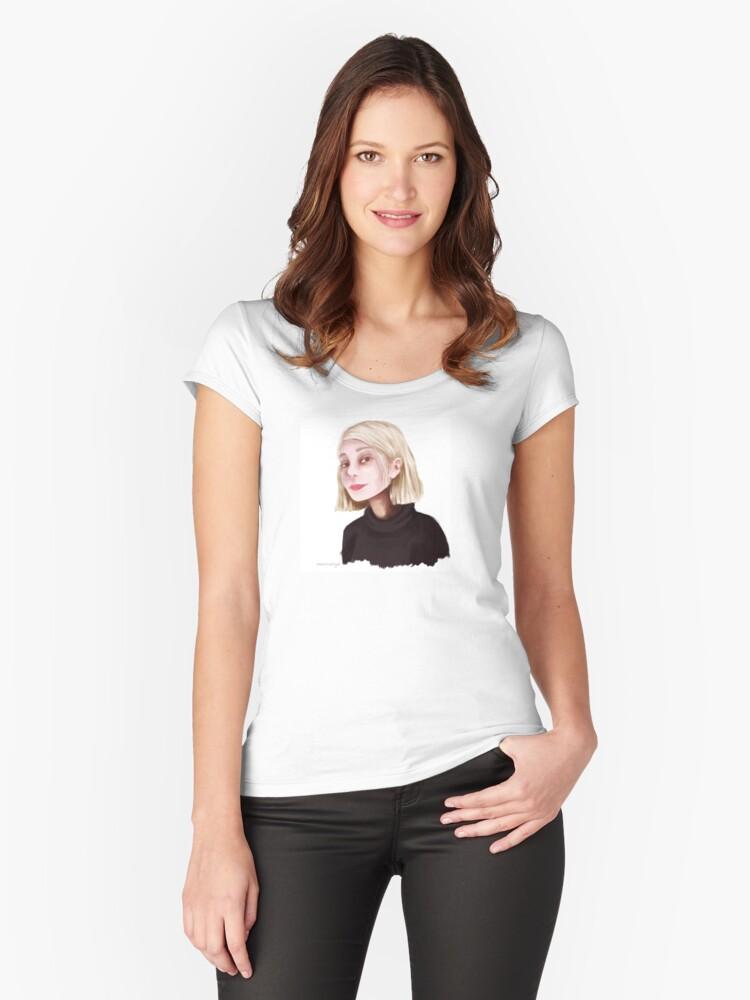 Mars Argo Fanart  Women's Fitted Scoop T-Shirt Front