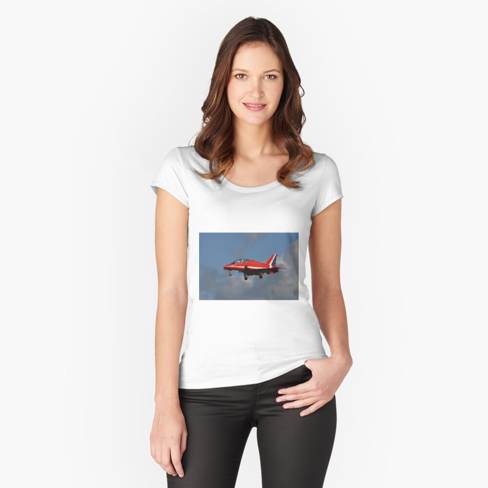Red Arrow Landing Women's Fitted Scoop T-Shirt Front
