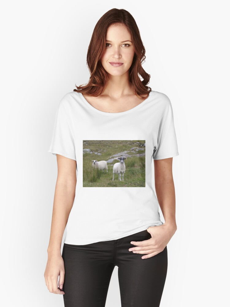 Harris Sheep Women's Relaxed Fit T-Shirt Front
