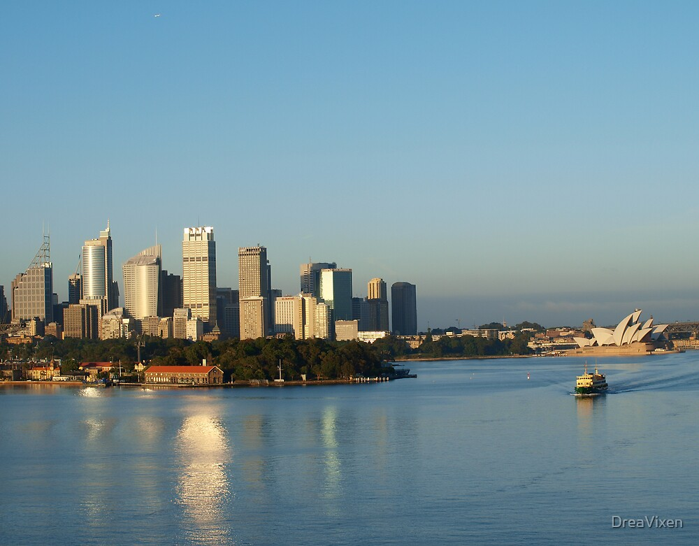 Looking into Sydney at Sunrise by DreaVixen