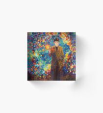 time lord with screwdriver Abstract Acrylic Block
