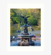 Central Park Water Fountain New York NY Art Print