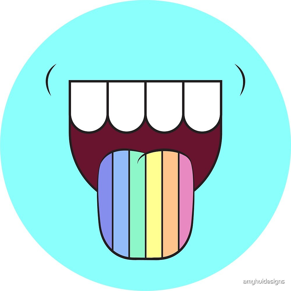 Taste the Rainbow - Blue by amyhuidesigns