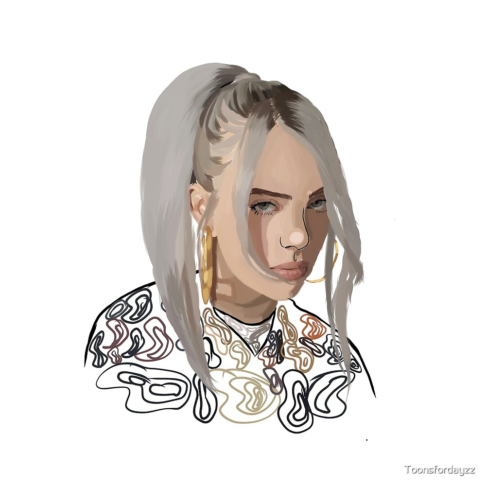 Billie Eilish Art by Toonsfordayzz