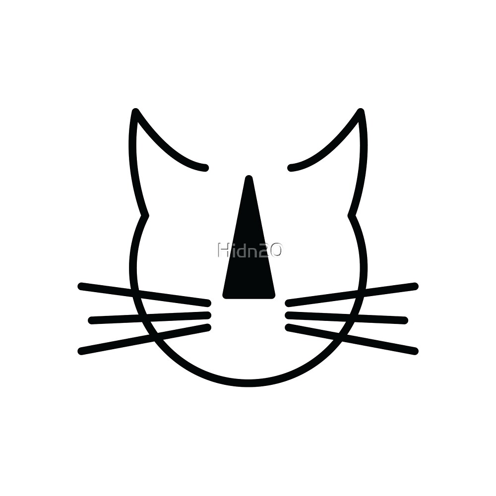 Stripey Nosed Cat Club (black outline, NO background) by Hidn20