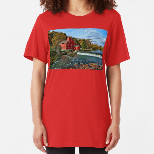 The Historic Red Mill of Clinton NJ Slim Fit T-Shirt