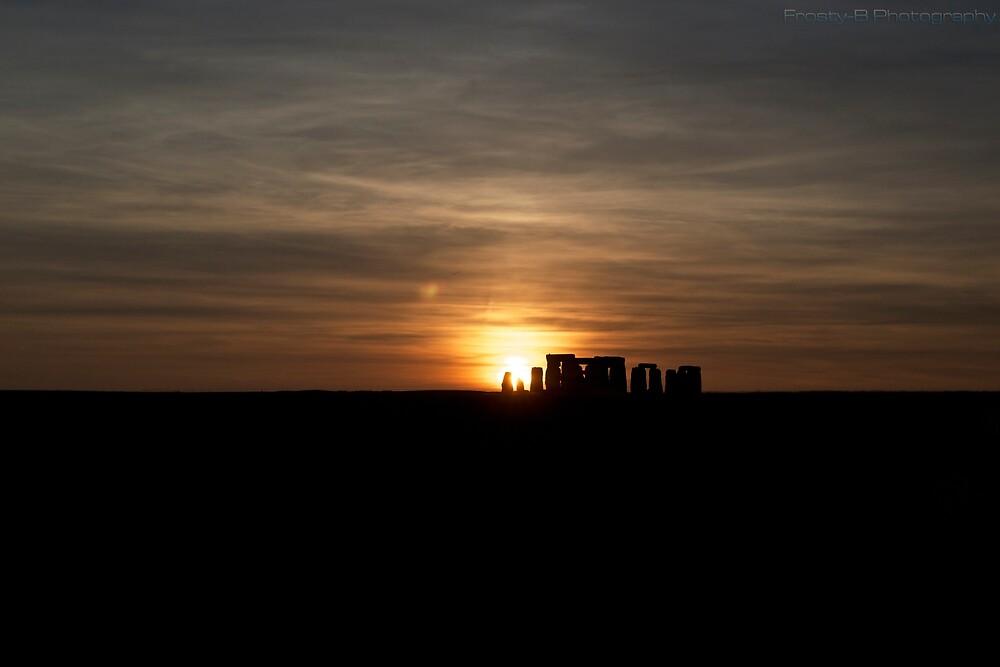 Sunset at Stonehenge. by jfrosbutter