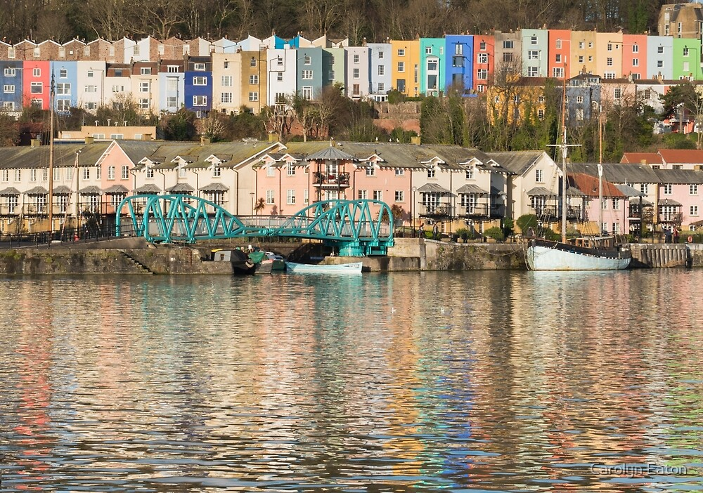 Colourful Harbourside in Bristol by Carolyn Eaton