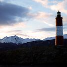 Lighthouse overlooking the Beagle Channel, Ushuaia by Elaine Stevenson