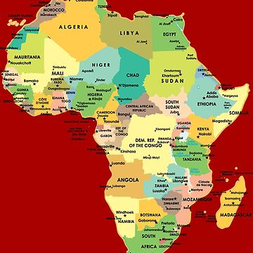 Map of Africa by richdelux