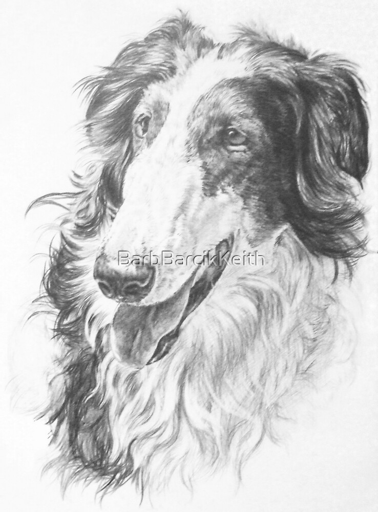 Russian Wolfhound by BarbBarcikKeith