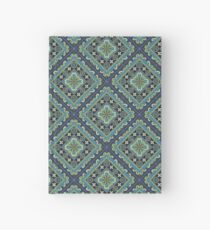 Spanish Tile - flowers and stripes Hardcover Journal