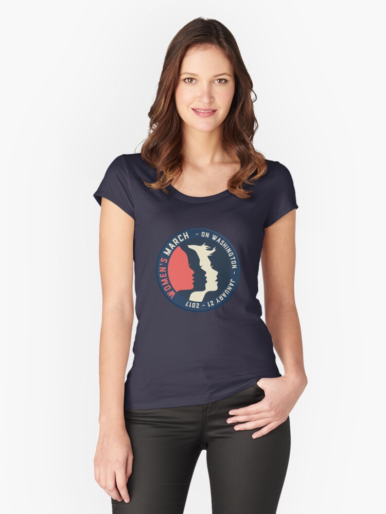 Womens March head Women's Fitted Scoop T-Shirt Front