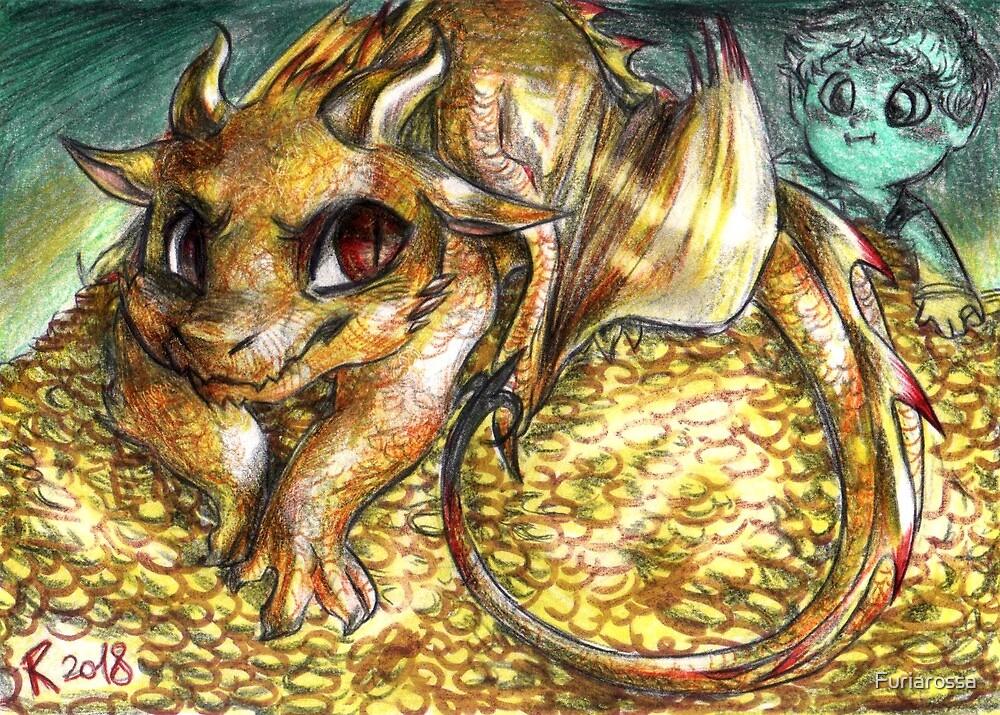 Chibi Smaug and Bilbo by Furiarossa