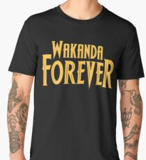 Wakanda Forever Yellow Men's Premium T-Shirt
