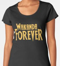 Wakanda Forever Yellow Women's Premium T-Shirt