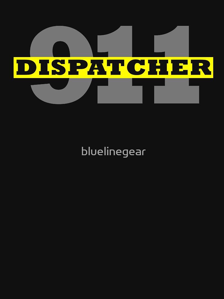 911 DISPATCHER THIN GOLD LINE by bluelinegear