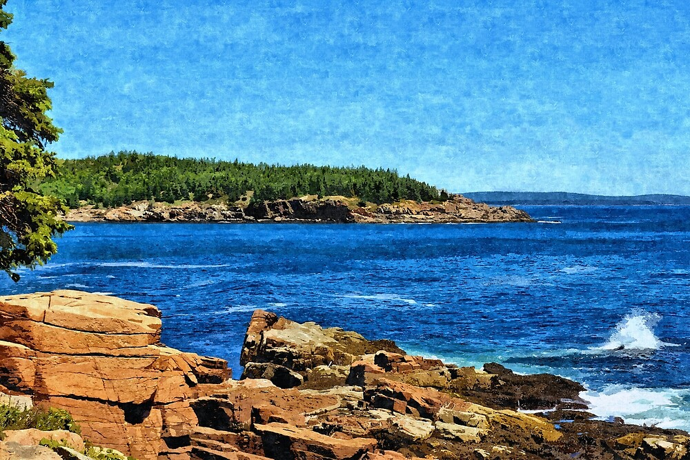 Rocky Maine Coastline 2 - Artistic by jtrommer