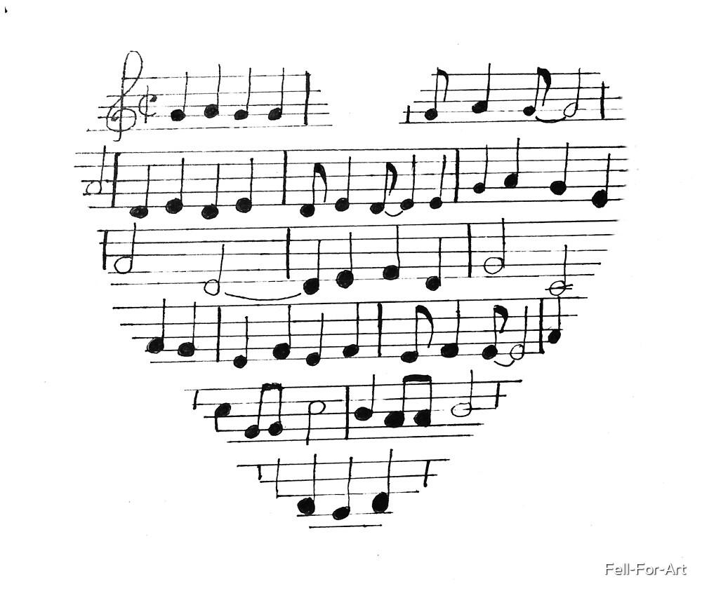 Heart of music by Fell-For-Art