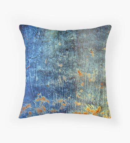 Turquoise Waterfall Throw Pillow