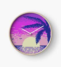 Pixel Sunset Clock