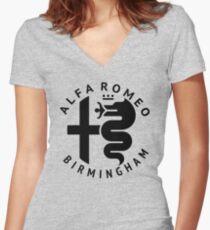 Alfa Romeo of Birmingham Crest Women's Fitted V-Neck T-Shirt