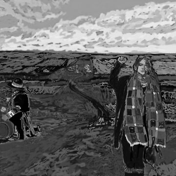 Stand with Standing Rock Black and White by thewindrow