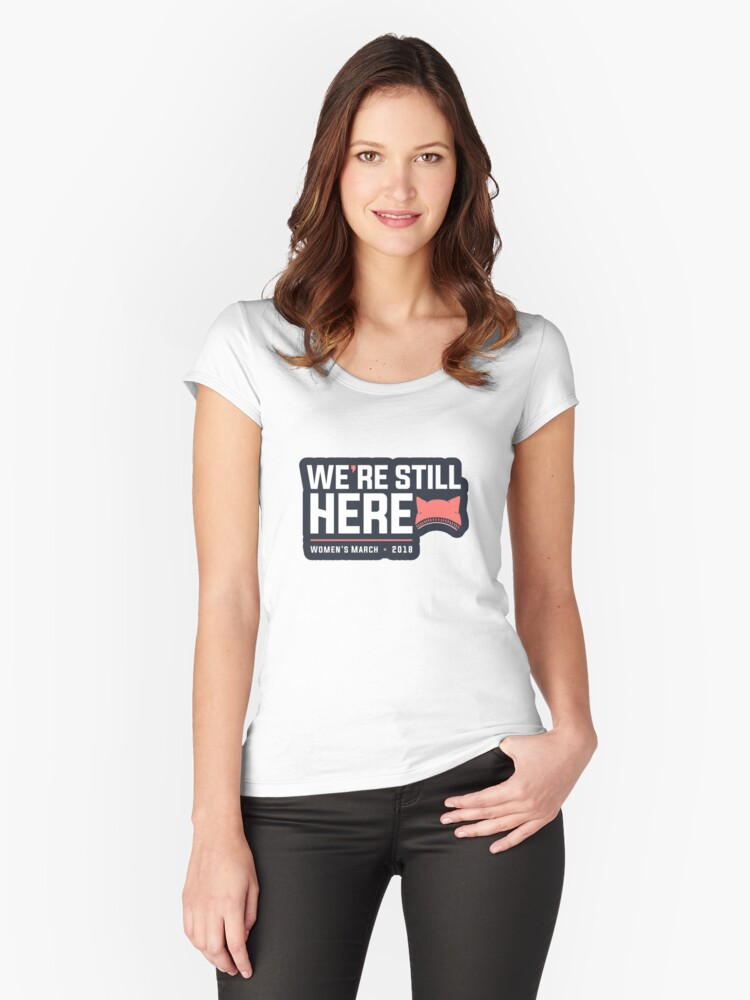 Women march Women's Fitted Scoop T-Shirt Front
