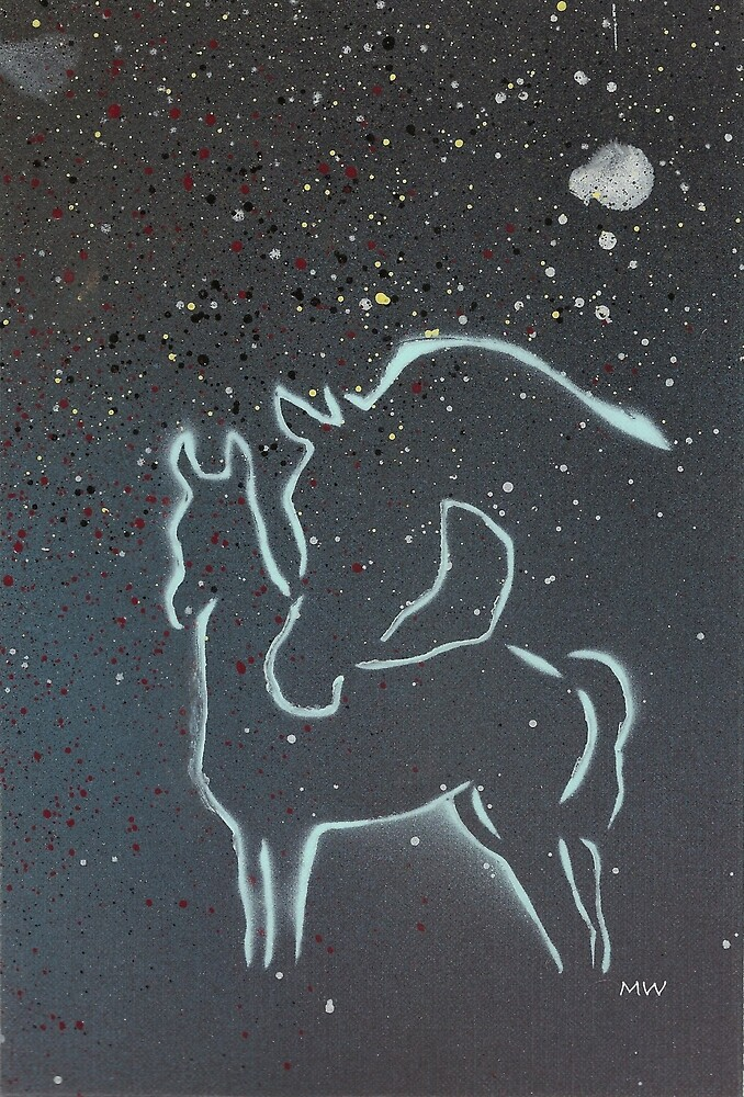 Mare and Foal In The Stars by MWDesignUP