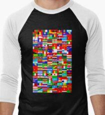 FLAGS OF THE WORLD Baseball ¾ Sleeve T-Shirt